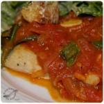 Salsa filetto sobre pez espada